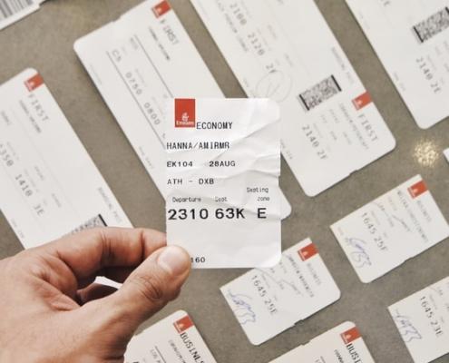 ¿Qué aspecto tiene un billete de avión?
